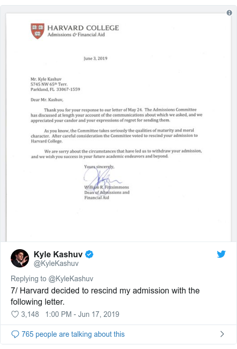 Harvard rescinds admission for Parkland student 'over racist slurs