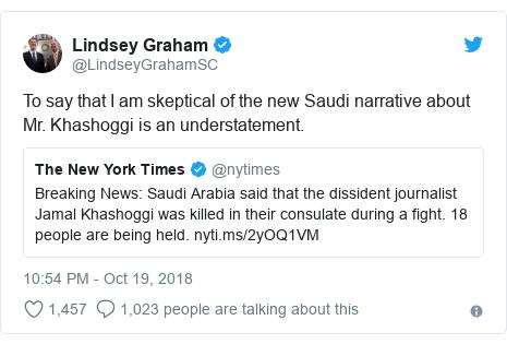Jamal Khashoggi case: Saudi Arabia says journalist killed in fight