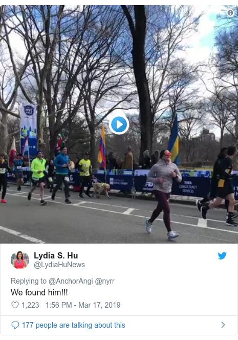 37bcb8f8b9421 Blind man runs New York half marathon with three guide dogs - BBC News