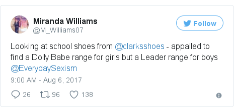 057176e510b9 Clarks in sexism row over Dolly Babe girls  shoe - BBC News