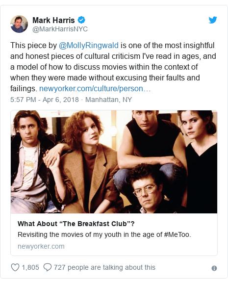 Molly Ringwald: The Breakfast Club star 'troubled' by hit film - BBC