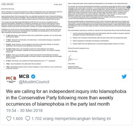 Partai Konservatif yang Berkuasa di Inggris Dilanda Tudingan Anti Islam