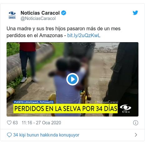 @NoticiasCaracol tarafından yapılan Twitter paylaşımı: Una madre y sus tres hijos pasaron más de un mes perdidos en el Amazonas -