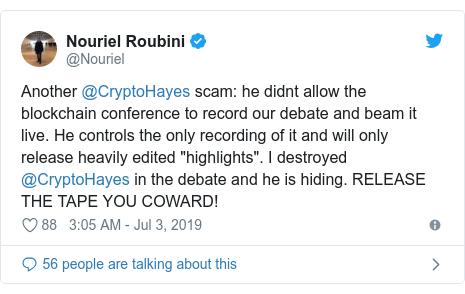 Dr Doom' economist Nouriel Roubini in Bitcoin battle - BBC News