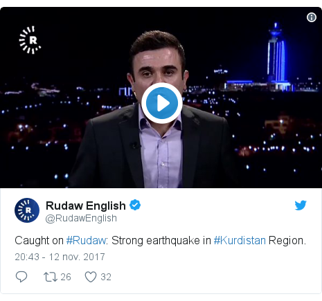 Publicación de Twitter por @RudawEnglish: Caught on #Rudaw  Strong earthquake in #Kurdistan Region.