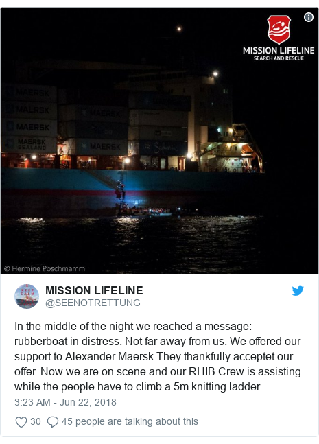 Twitter Post By SEENOTRETTUNG In The Middle Of Night We Reached A Message
