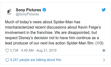 Spider-Man and Tom Holland: Sony 'disappointed' over Disney