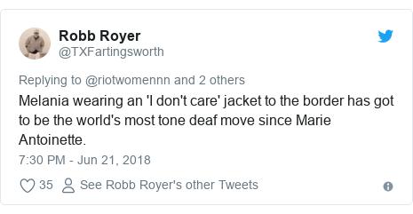 Melania wears 'I really don't care do u?' jacket on migrant