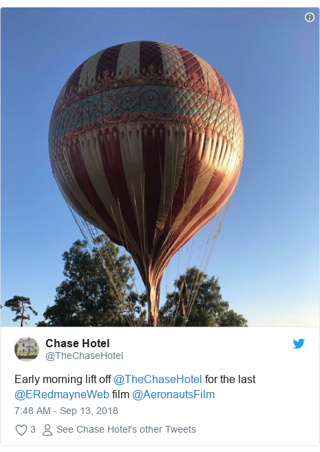 18ca99963d60a Twitter post by  TheChaseHotel  Early morning lift off  TheChaseHotel for  the last