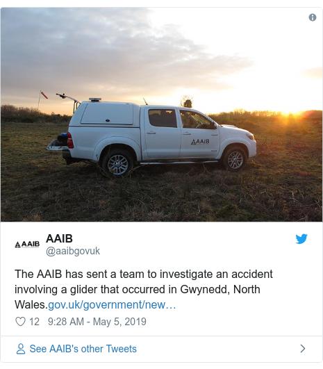 Body recovered after glider crash in Blaenau Ffestiniog