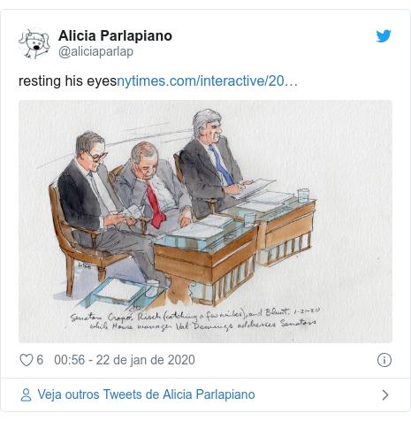 Twitter post de @aliciaparlap: resting his eyes