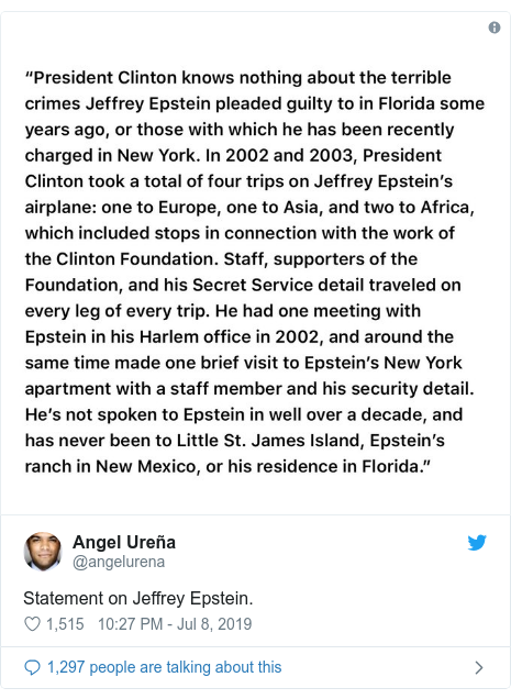 Jeffrey Epstein: What are his famous friends saying? - BBC News