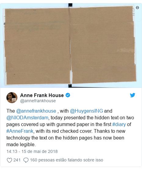 Páginas Inéditas Do Diário De Anne Frank Trazem Piadas E Comentários