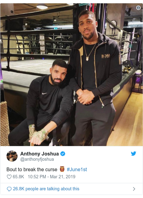 6df30c62a65358 Anthony Joshua: Drake curse blamed for defeat by Andy Ruiz Jr - BBC News