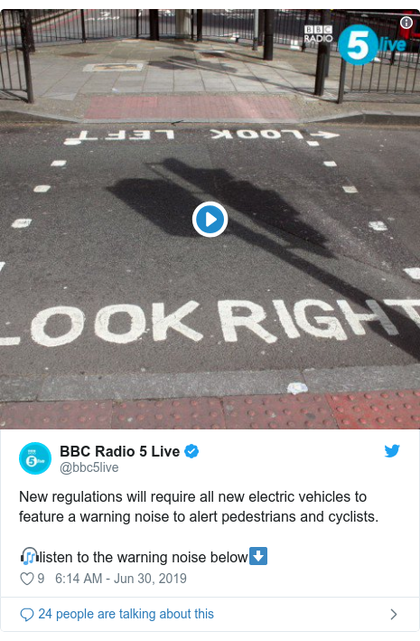 Electric cars: New vehicles to emit noise to aid safety - BBC News
