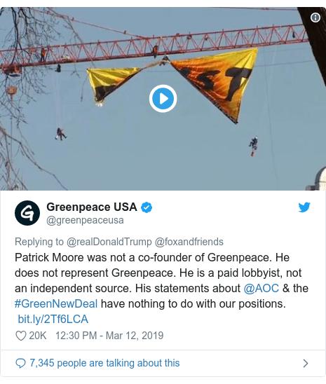 Greenpeace hits back at Trump tweet on climate change denial - BBC News