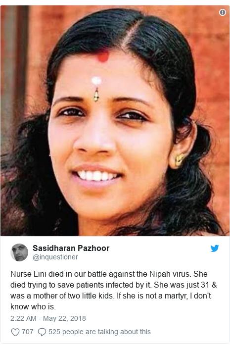 Lini Puthussery: India's 'hero' nurse who died battling Nipah virus