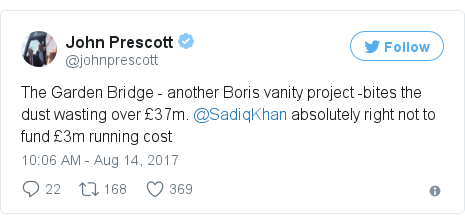 Londons Garden Bridge project officially abandoned BBC News