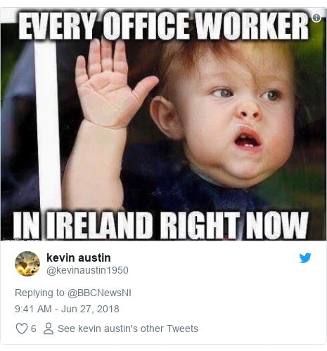 Twitter post by @kevinaustin1950: