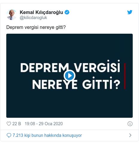 @kilicdarogluk tarafından yapılan Twitter paylaşımı: Deprem vergisi nereye gitti?