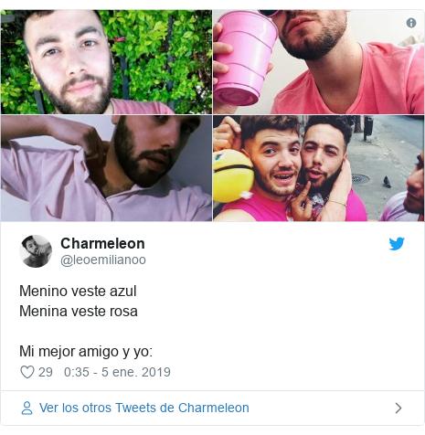 13d4ef0624 Publicación de Twitter por  leoemilianoo  Menino veste azulMenina veste  rosaMi mejor amigo y yo