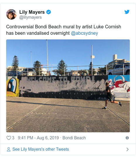 Bondi Beach mural vandalised after council reject removal calls