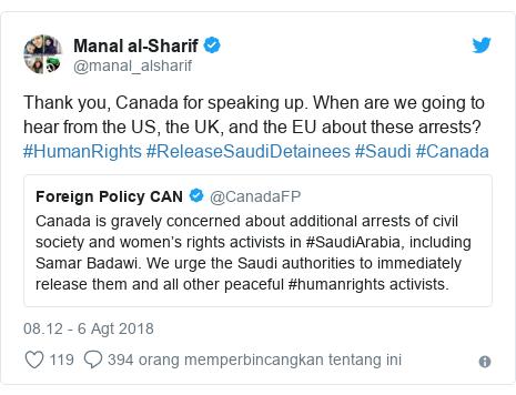 twitter Manal al-Sharif