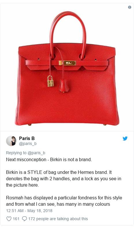 18c0c52b86ed Twitter post by  paris b  Next misconception - Birkin is not a brand.Birkin