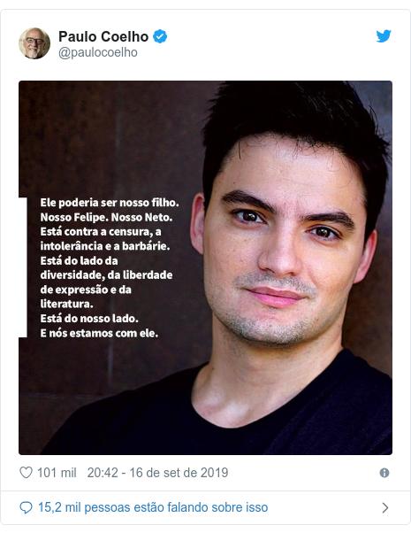 Twitter post de @paulocoelho: