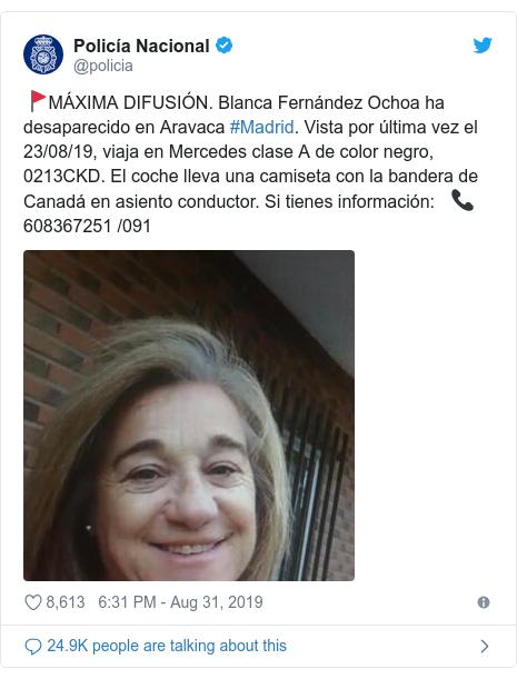 Blanca Fernandez Ochoa: Winter Olympic medallist reported