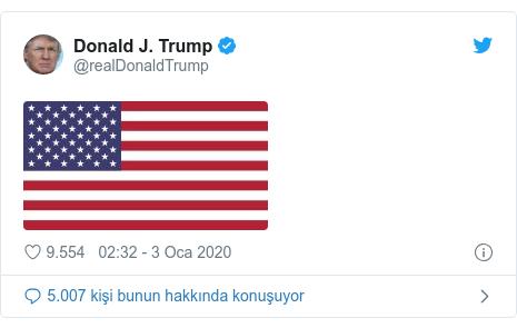 @realDonaldTrump tarafından yapılan Twitter paylaşımı: