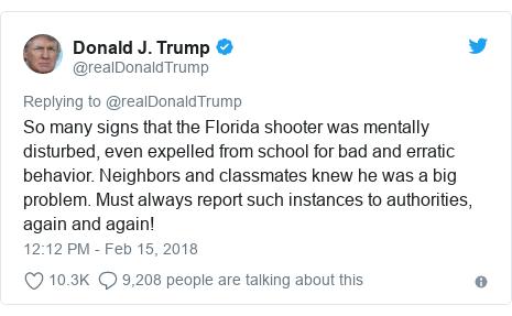 Florida Shooting Fbi And Teachers Warned About Nikolas Cruz Bbc News