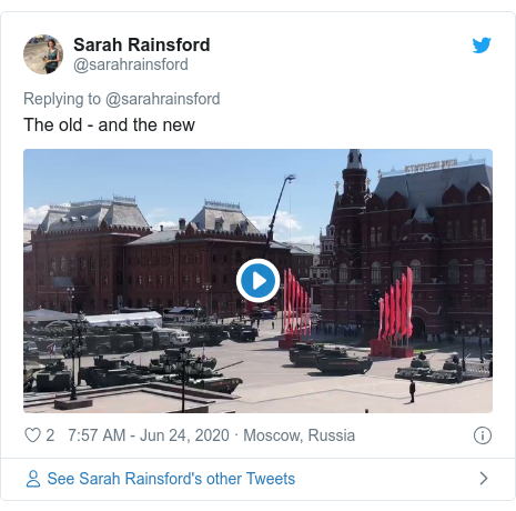 Twitter post by @sarahrainsford: The old - and the new