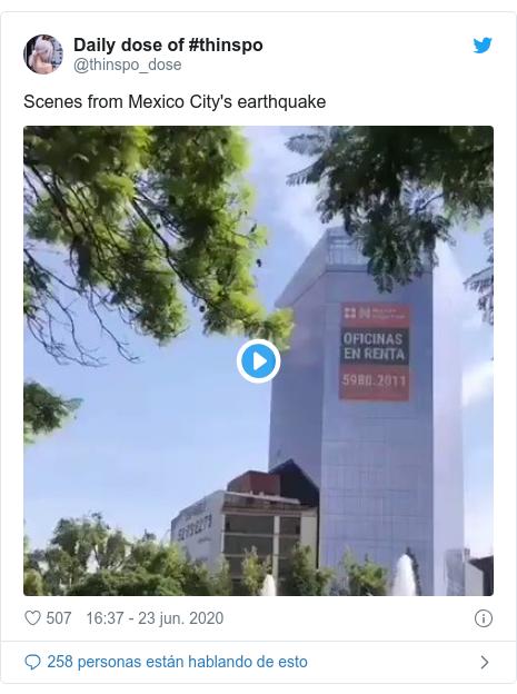 Publicación de Twitter por @thinspo_dose: Scenes from Mexico City's earthquake