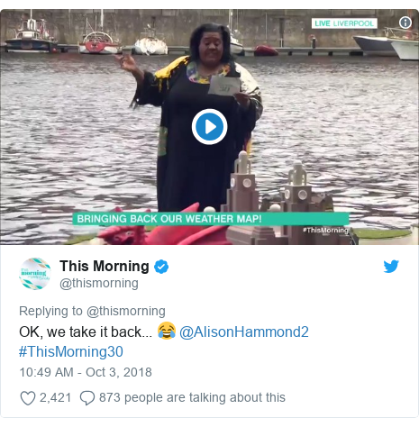 This Morning at 30: Alison Hammond dunks sailor in weather