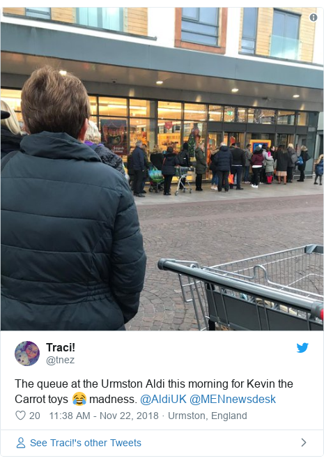 Aldi's Kevin the carrot toy ad causes chaos and queues - BBC