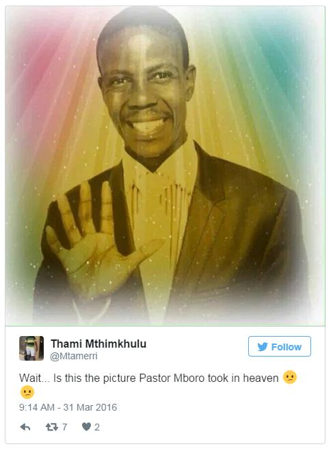 South African preacher mocked after charging for 'heavenly' photos
