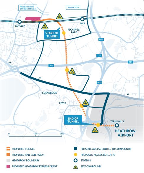 Network rail infographic of proposed tunnel