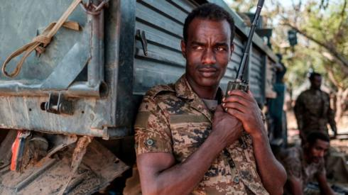 An Ethiopian soldier