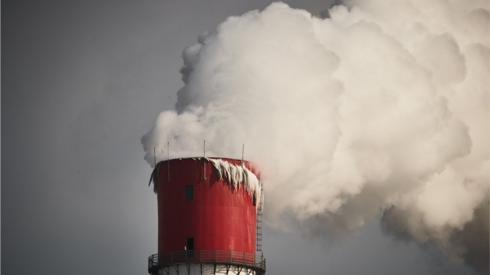 Coal power plant chimney