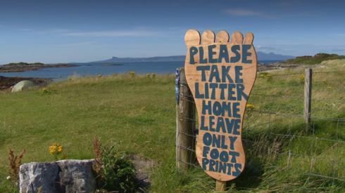 Sign at Morar