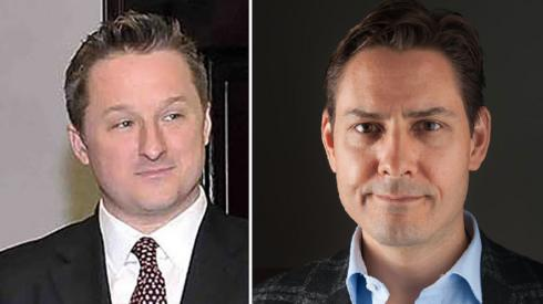 Michael Spavor (L) and Michael Kovrig (composite image)