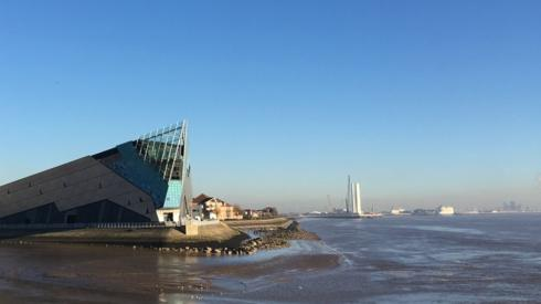 The Deep overshadowing Alexandra Dock