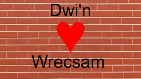 Graffeg 'Dwi'n caru Wrecsam'