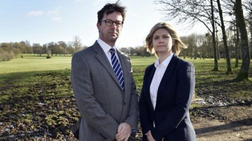 Detectives Mark Glover and Nicola Douglas