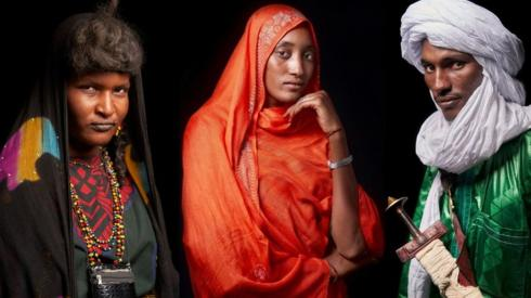 A BBC composite of three individual photo portraits that were taken by AFP.