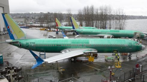 A Boeing 737 MAX 8 for China Southern Airlines pictured at the Boeing Renton Factory in Washington in 2019