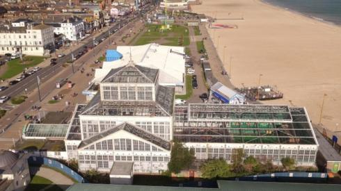 Aerial view of the Winter Gardens, Great Yarmouth