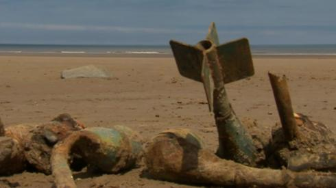 Bombs on the beach