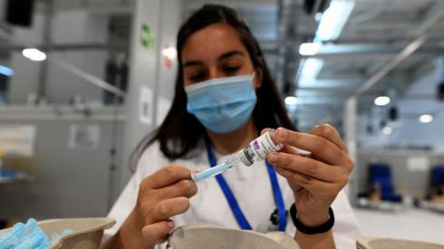 Madrid AstraZeneca vaccine (file photo)
